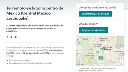 Airbnb Mexico Sismo 19 Septiembre 2017