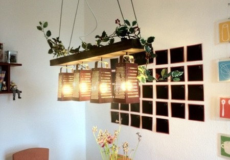 Recicladecoración: lámparas hechas con ralladores