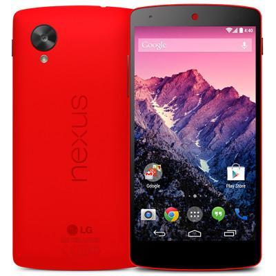 El Nexus 5 en rojo disponible en la Play Store