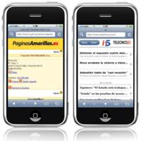 Las primeras webs españolas preparadas para el iPhone, ya están disponibles
