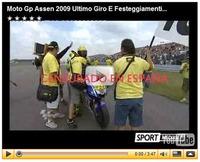 Rossi celebrando la victoria 100, lo que no vimos en TVE