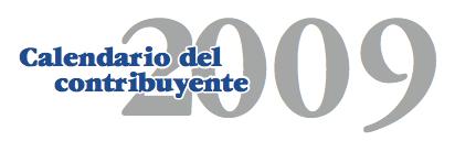 Calendario del contribuyente 2009 de la AEAT