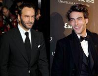 Tom Ford y Jon Kortajarena en el estreno de 'Un hombre soltero', en Madrid