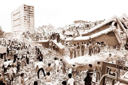 Derrumbe Terremoto Mexico