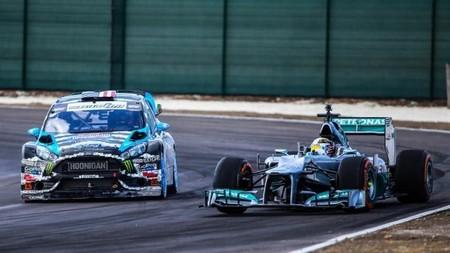Lewis Hamilton y Ken Block compartieron pista en el Top Gear Festival