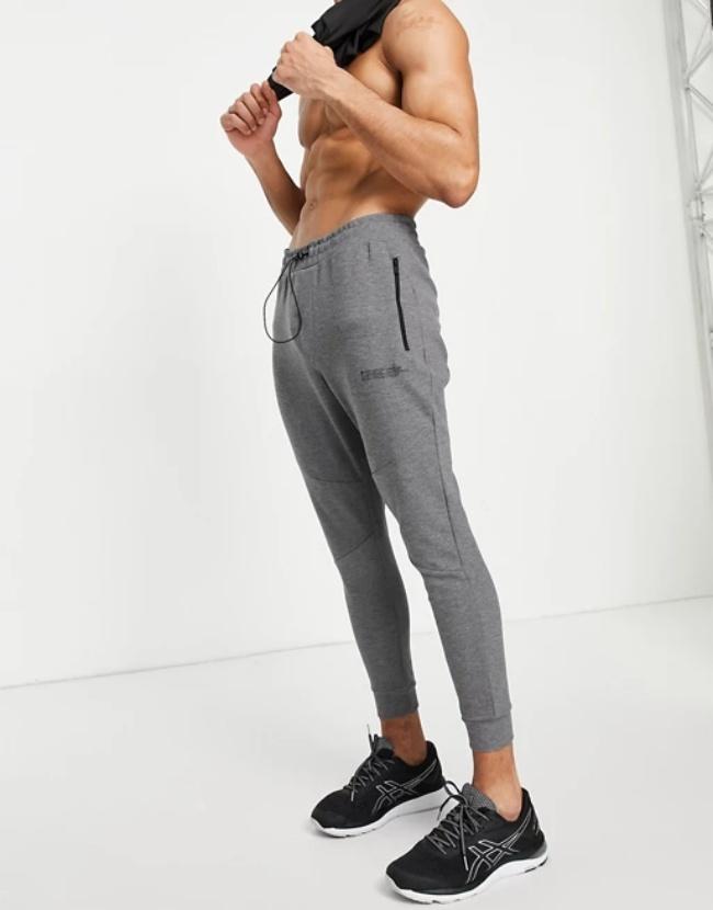 Joggers en color gris