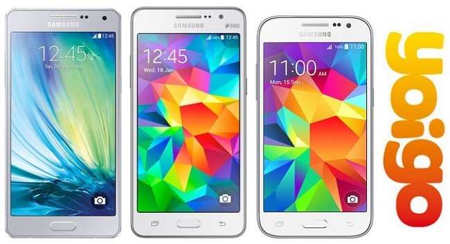 Precios Samsung Galaxy A5, Core Prime y Grand Prime con Yoigo