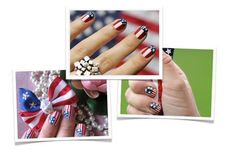 Obama Art Nail Usa Flag
