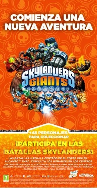 Los Skylanders Giants se van de gira por España organizando desafíos y repartiendo regalos