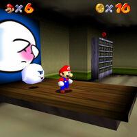 Super Mario 64: cómo conseguir la estrella Go on a Ghost Hunt de Big Boo's Haunt