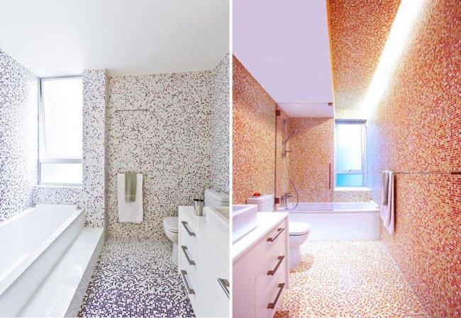 Baños Duchas Gresite:Cómo no usar el gresite en el baño