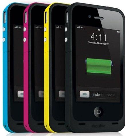 Mophie Juice Pack Plus para iPhone 4, batería extra en el teléfono de Apple