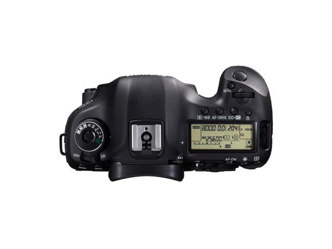 Canon EOS 5D Mark III vista desde arriba