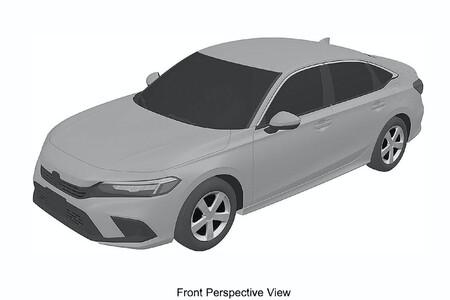 Honda Civic Sedan 2022 (bocetos filtrados)