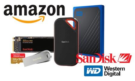 Ofertas en almacenamiento SanDisk y Western Digital: esta semana en Amazon tienes más GB por menos dinero con estos discos duros y tarjetas de memoria