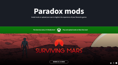 Paradox Mods es la nueva plataforma para mods de Paradox Interactive disponible para PC y Xbox One
