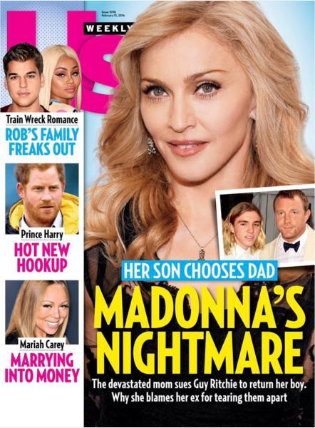 Madonna, hecha polvo por temas familiares