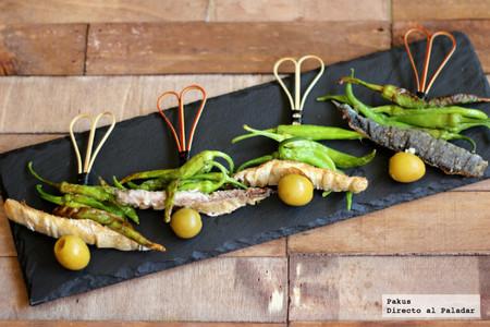 Gildas calientes, original receta de aperitivo