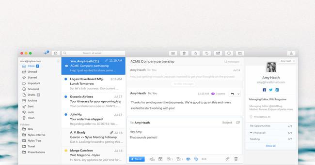 Así es el nuevo Nylas Mail 2.0, uno de los clientes de correo más completos para Windows, Linux y Mac