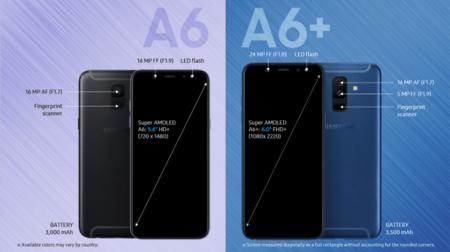 Samsung Galaxy A6 y Galaxy A6 Plus