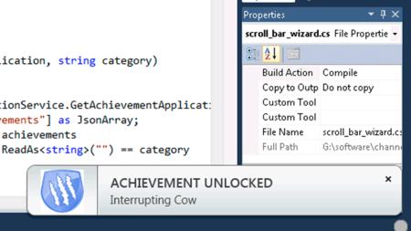 Microsoft lleva los sistemas de logros a Visual Studio