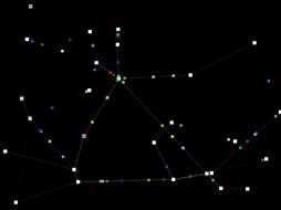 ChemicalBurn: Salvapantallas sobre una red que se organiza automáticamente