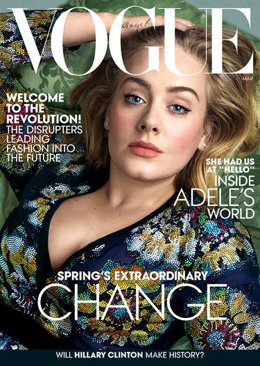 Adele domina las principales portadas (y no sólo hablamos de la última de Vogue)