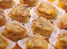 Pinchos de tortilla de patatas con calabacín y zanahoria