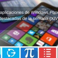 5 aplicaciones de Windows Phone destacadas de la semana (XIV)