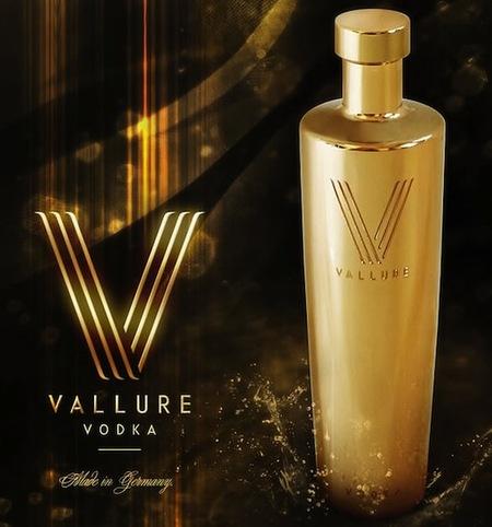 Vallure Vodka, una botella hecha en oro 24K
