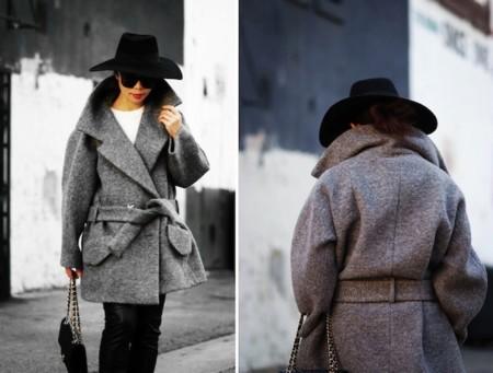 abrigo gris oversize