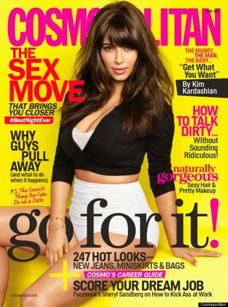Kim Kardashian, prieta como pocas en la portada de Cosmopolitan