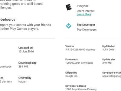 Google Play optimizará mejor el tamaño de descarga y dirá cuánto ocupan las actualizaciones