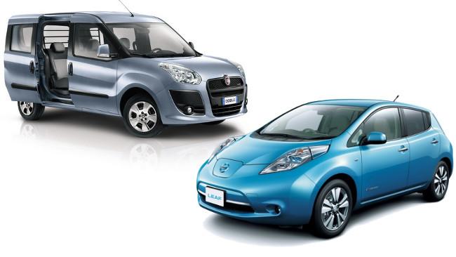 Fiat Doblò y Nissan Leaf