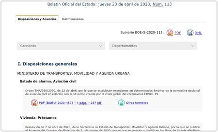Boe Es Sumario Del Dia 23 04 2020 Google Chrom