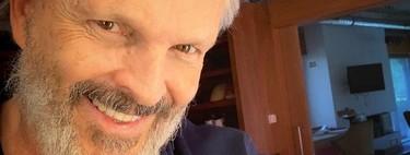 Miguel Bosé traiciona sus principios de conspiranoia: no va a la manifa y le cazan con mascarilla en boca