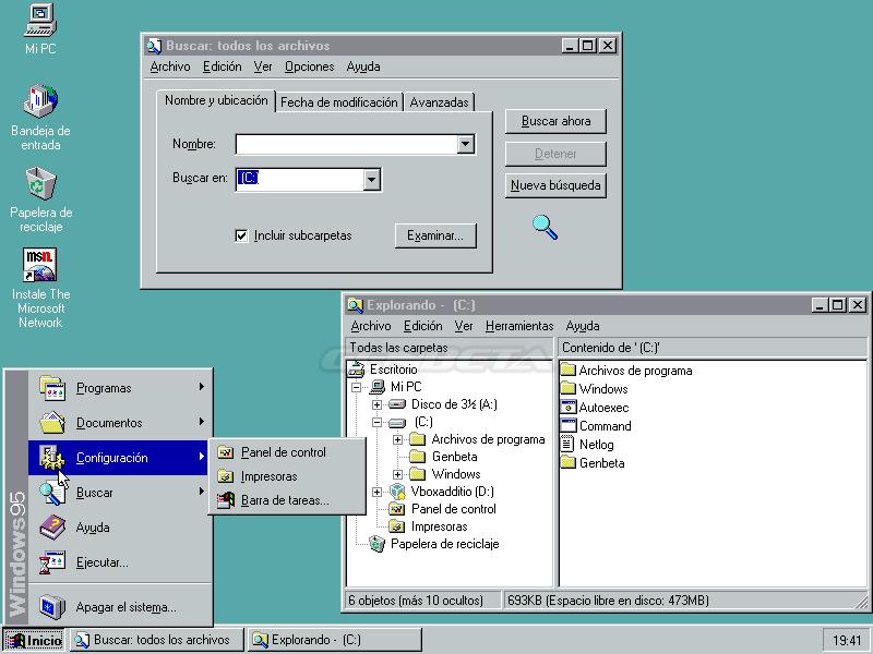 Foto de Windows 95 y su escritorio (1/5)