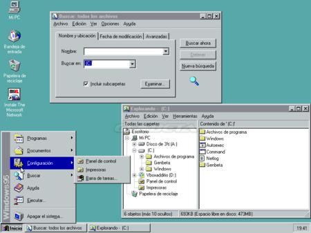 Windows 95 y su escritorio