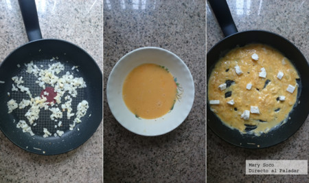 Huevos Queso Crema Pasos