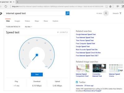 ¿Cómo de rápida es tu conexión a Internet? Bing ahora podría decírtelo en el mismo buscador