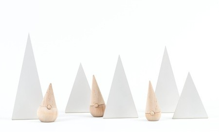 Minimalismo en Navidad con los Happy Little Trees de Fruitsuper Design