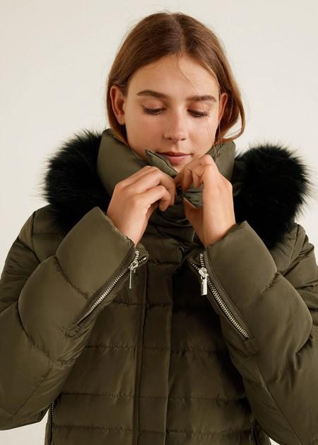 mango abrigo plumas lowcost