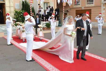 Charlene Wittstock vestido novia Armani