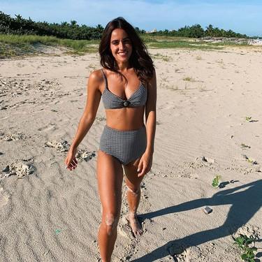Los cuatro ejercicios para tonificar piernas, glúteos, brazos y abdomen que puedes copiar del entrenamiento de Macarena García