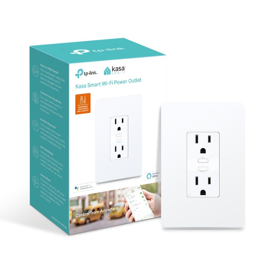 TP-Link Kasa Smart - Mini enchufe WiFi, enchufe de pared WiFi inteligente de Kasa, Blanco