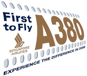 Singapur Airlines subasta su primer vuelo con A380