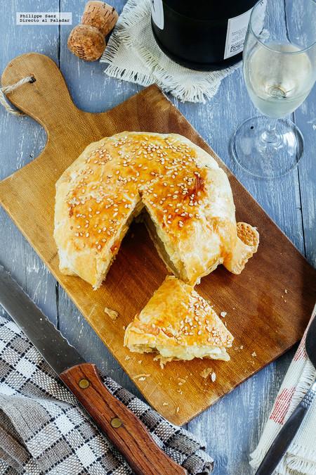 Queso Camembert en hojaldre. Receta de botana