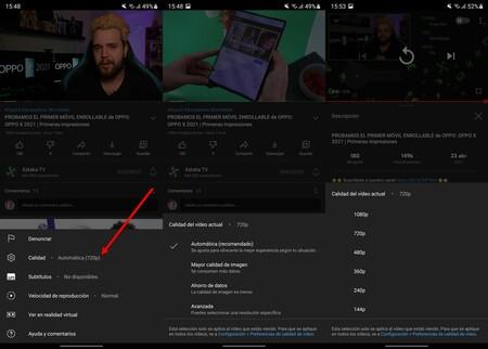 Calidad Youtube