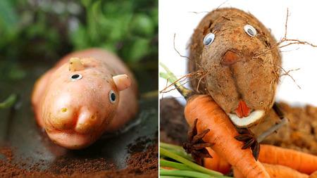 Humorísticas escenas de animales elaboradas con comida por Vanessa Dualib