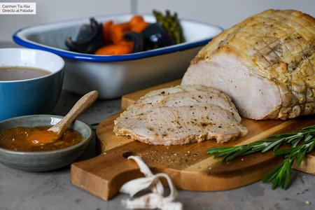 Receta de jamón asado con naranja y romero o cómo triunfar en la cocina con muy poco esfuerzo